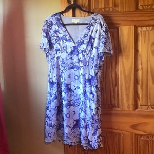 Purple michael kors dress |